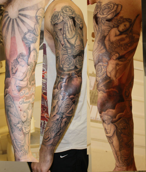 religous sleeve paul urban tattoo. Black Bedroom Furniture Sets. Home Design Ideas